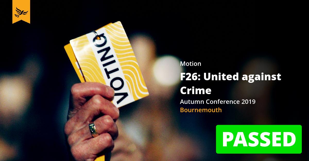 F26: United against Crime