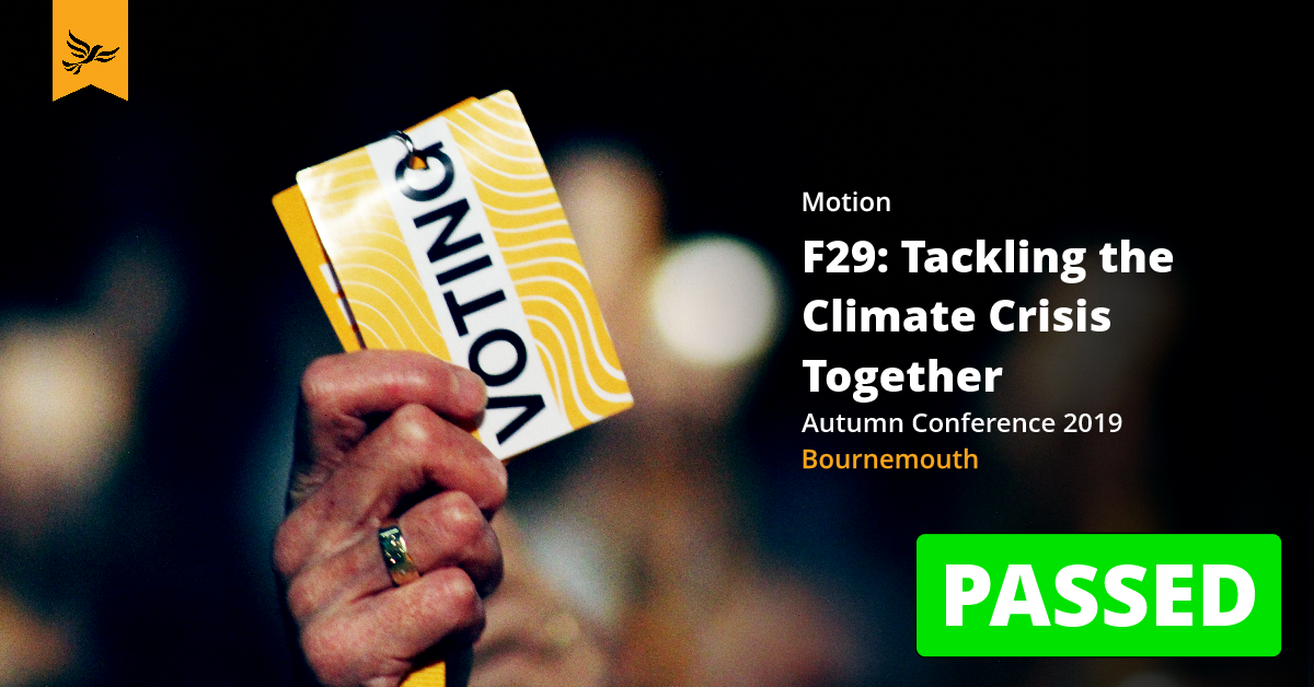 F29: Tackling the Climate Emergency