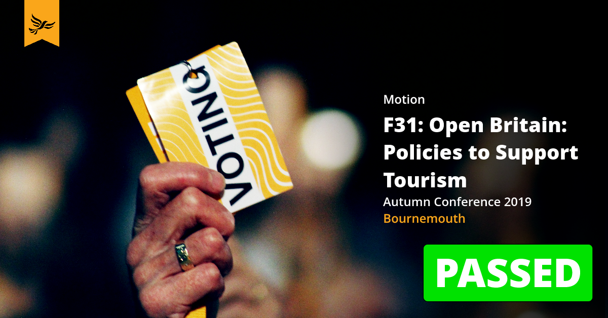 F31: Open Britain: Policies to Support Tourism