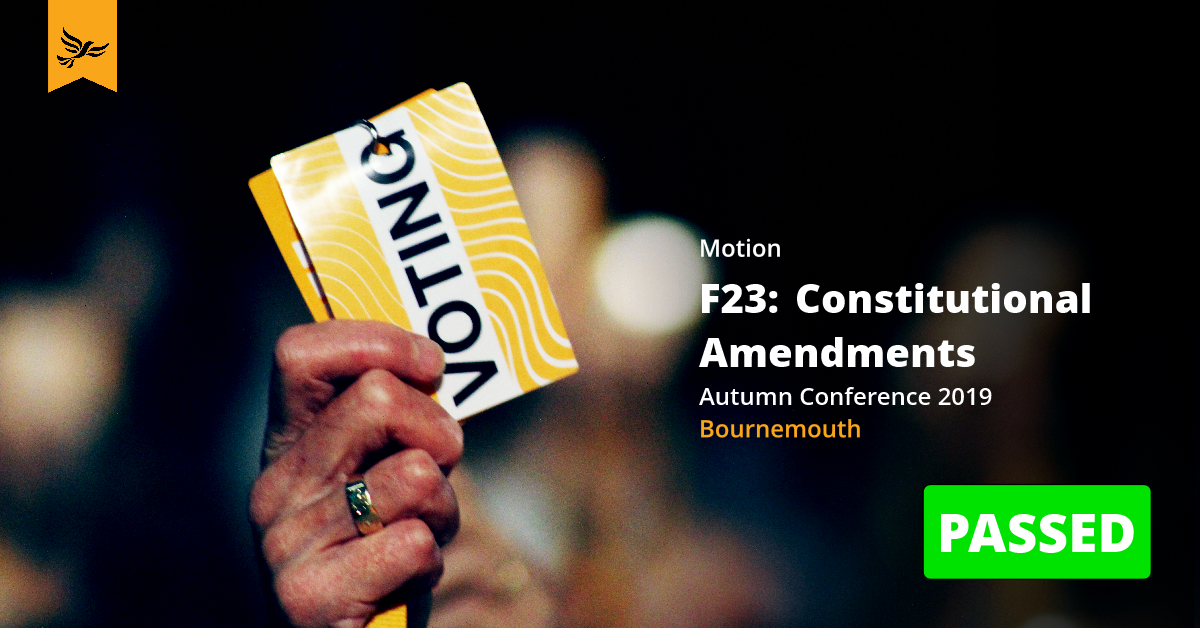 F23:Constitutional Amendments and Standing Orders