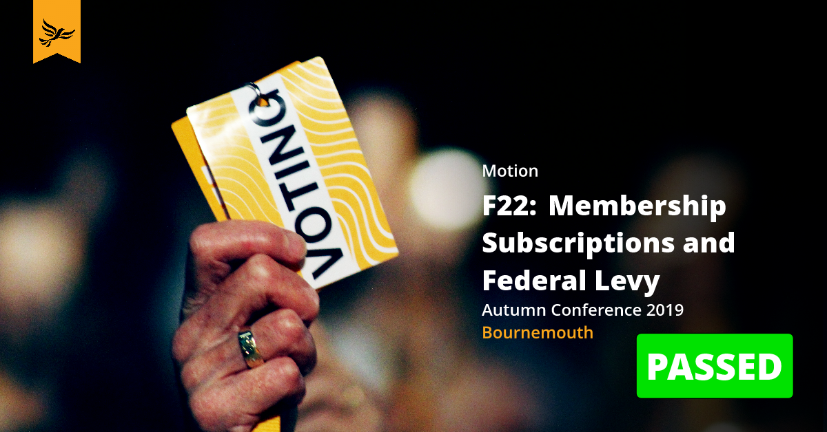 F22:Membership Subscriptions and Federal Levy