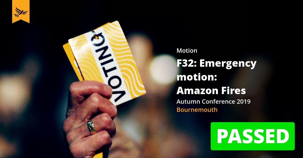 F32: Amazon Fires (Emergency Motion)