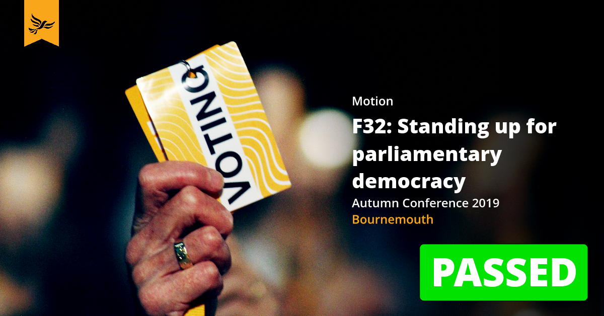 F33: Standing up for our parliamentary democracy (Emergency Motion)