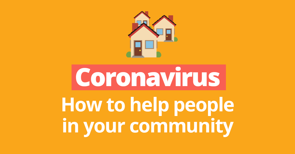 Helping your community during the coronavirus - share this page.