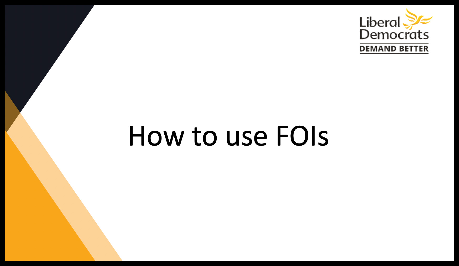 How to use FOIs