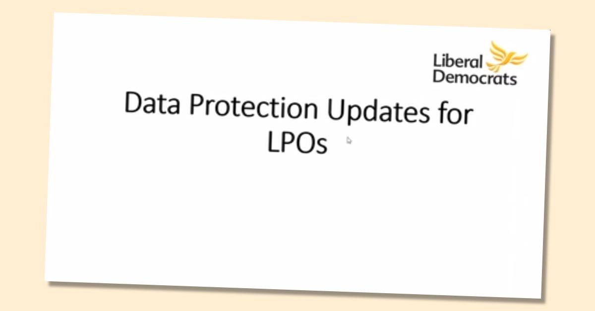 LPO Data Protection training (update)