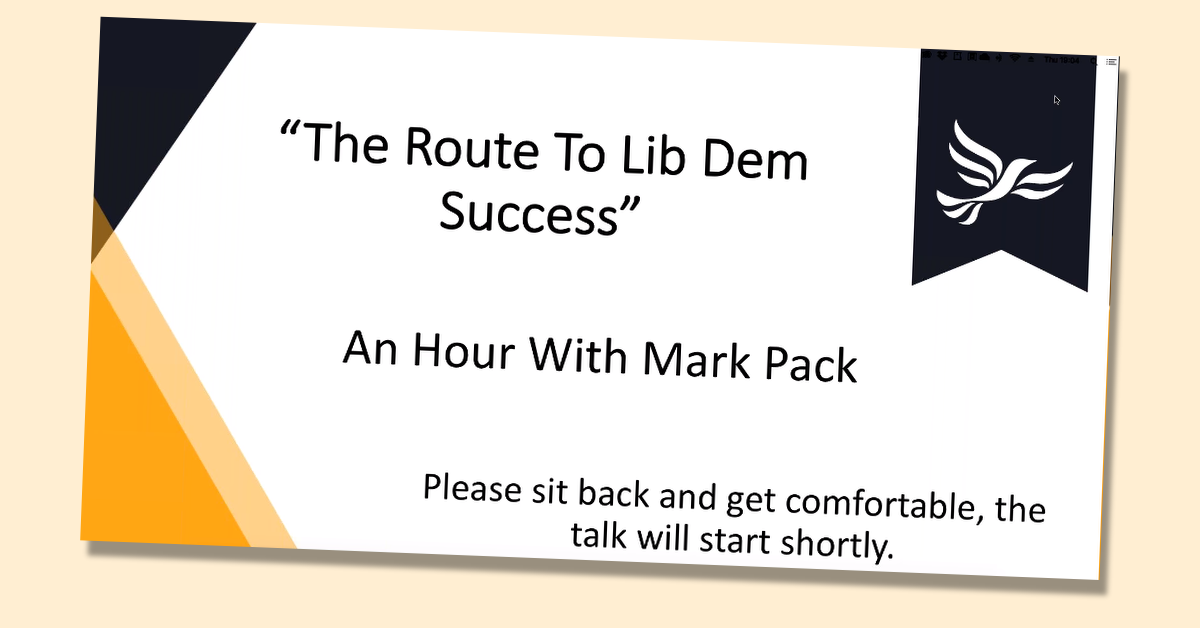 An hour with Mark Pack - the route to Lib Dem success