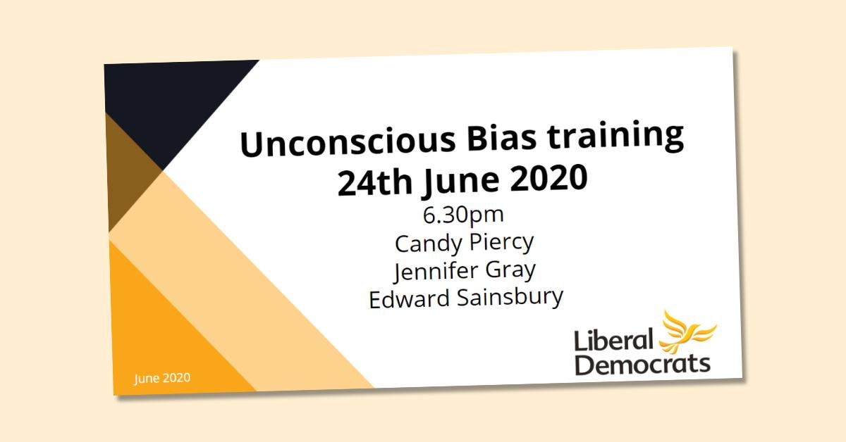 Unconscious Bias Webinar - 24th June 2020