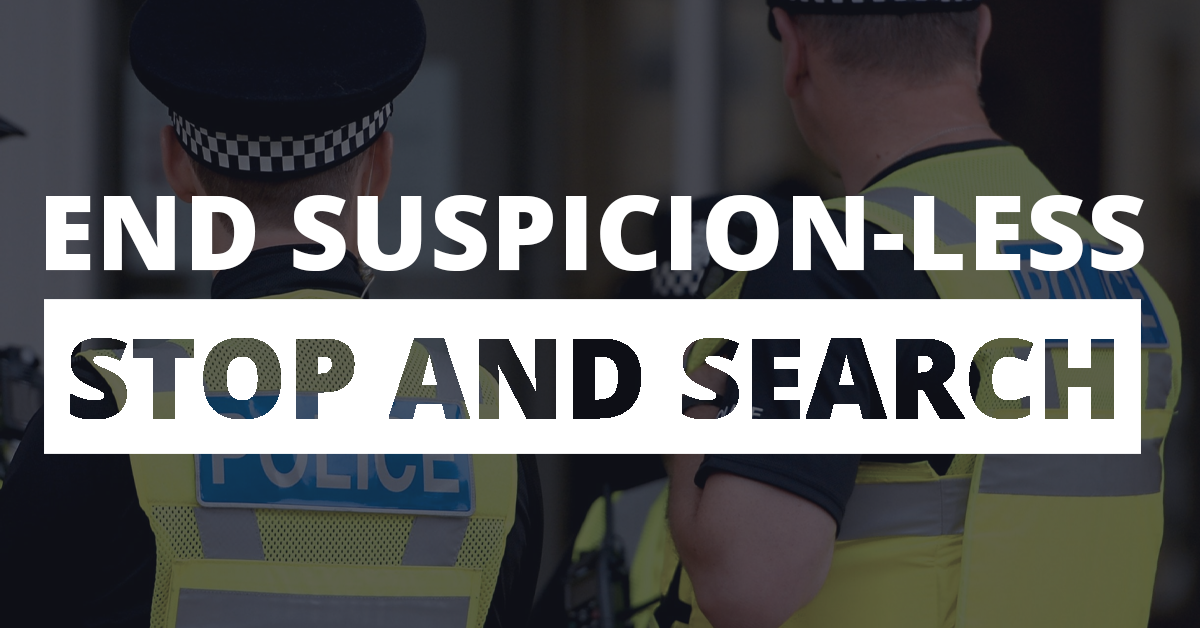 End Suspicion-less Stop and Search