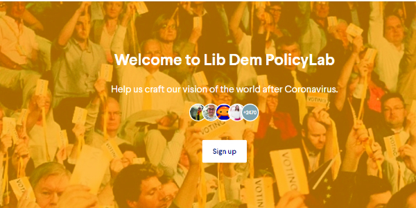 PolicyLab sign in page