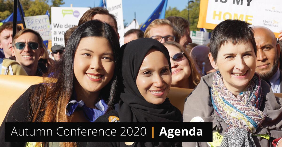 Conference Agenda - Autumn 2020