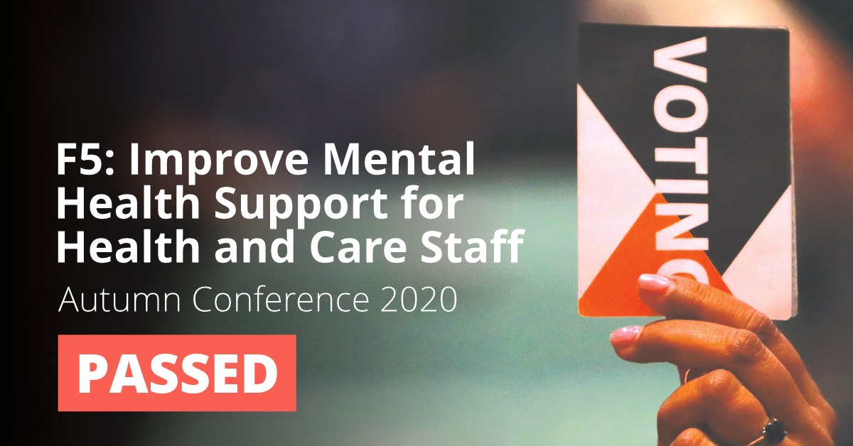F5: Improve Mental Health Support for Health and Care Staff