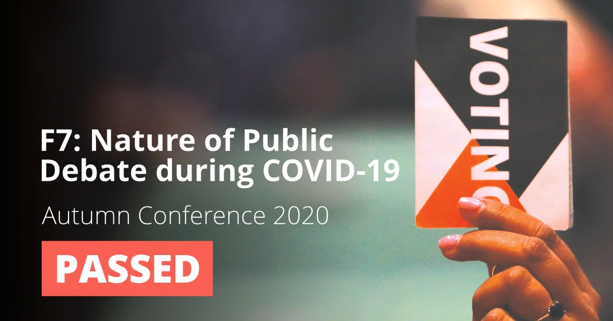 F7: Nature of Public Debate during COVID-19