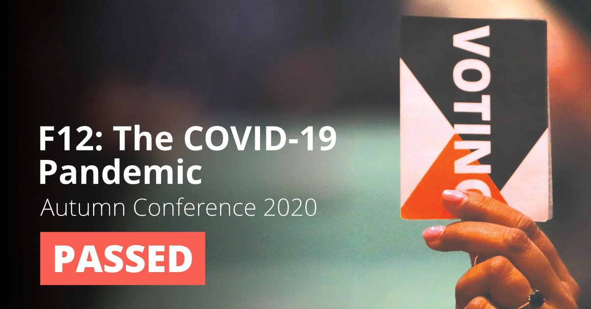 F12: The Government's Response to the COVID-19 Pandemic