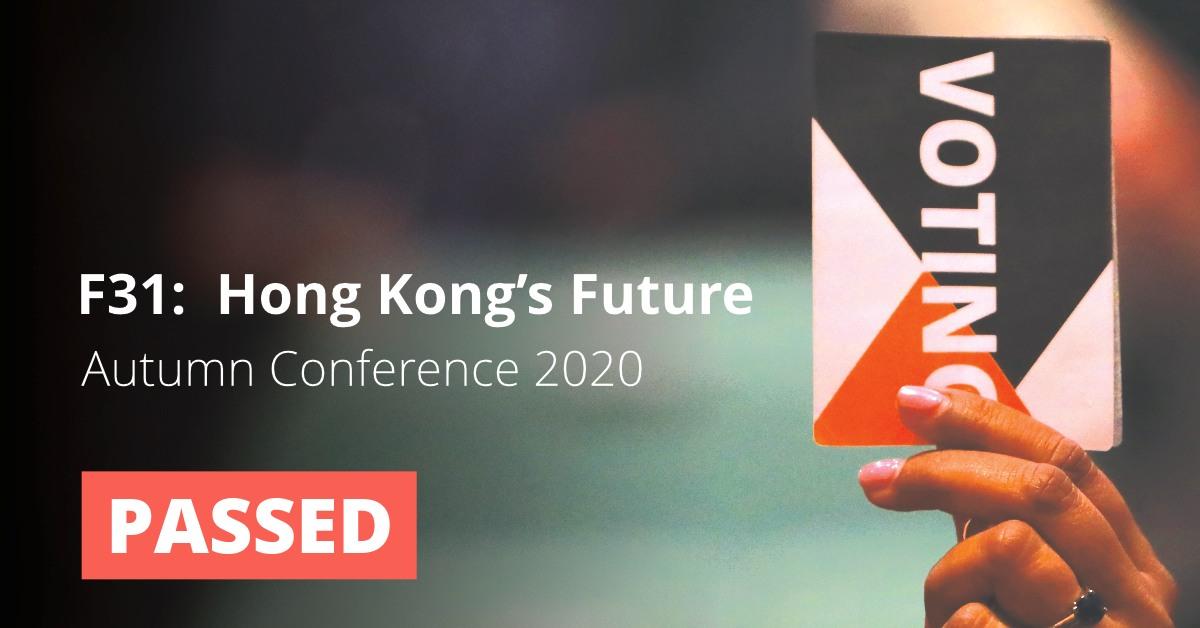 F31: Hong Kong's Future