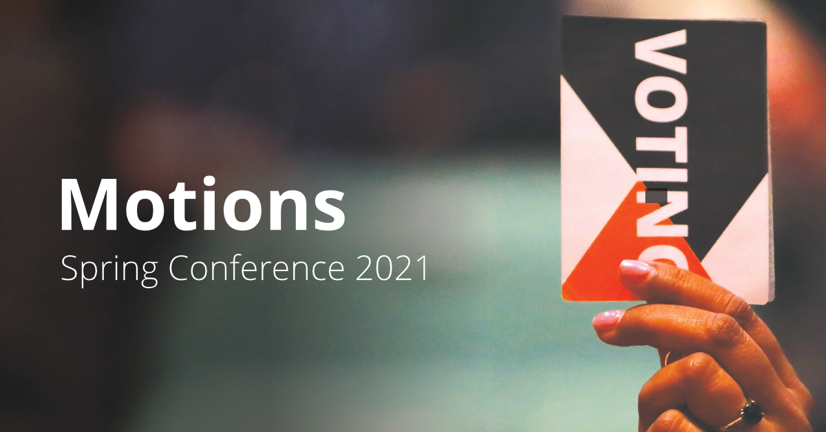 Conference Motions - Spring 2021