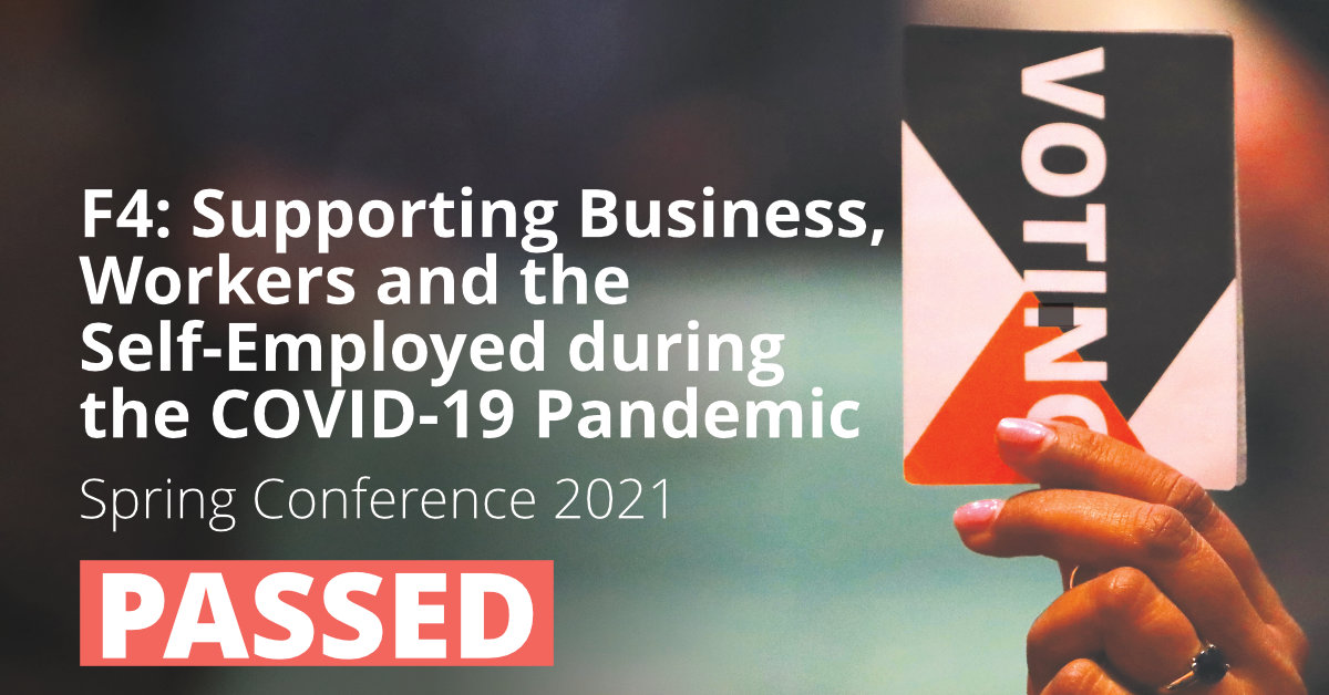 F4: Supporting Business, Workers and the Self-Employed during the COVID-19 Pandemic