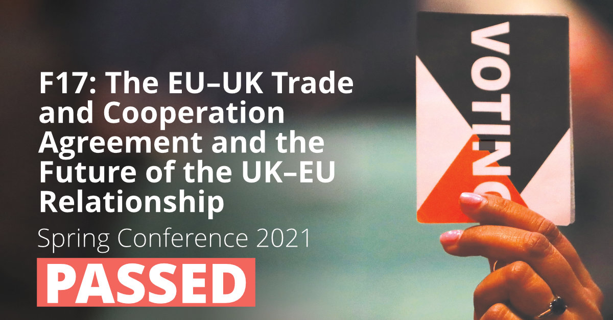 F17: The EU–UK Trade and Cooperation Agreement and the Future of the UK–EU Relationship