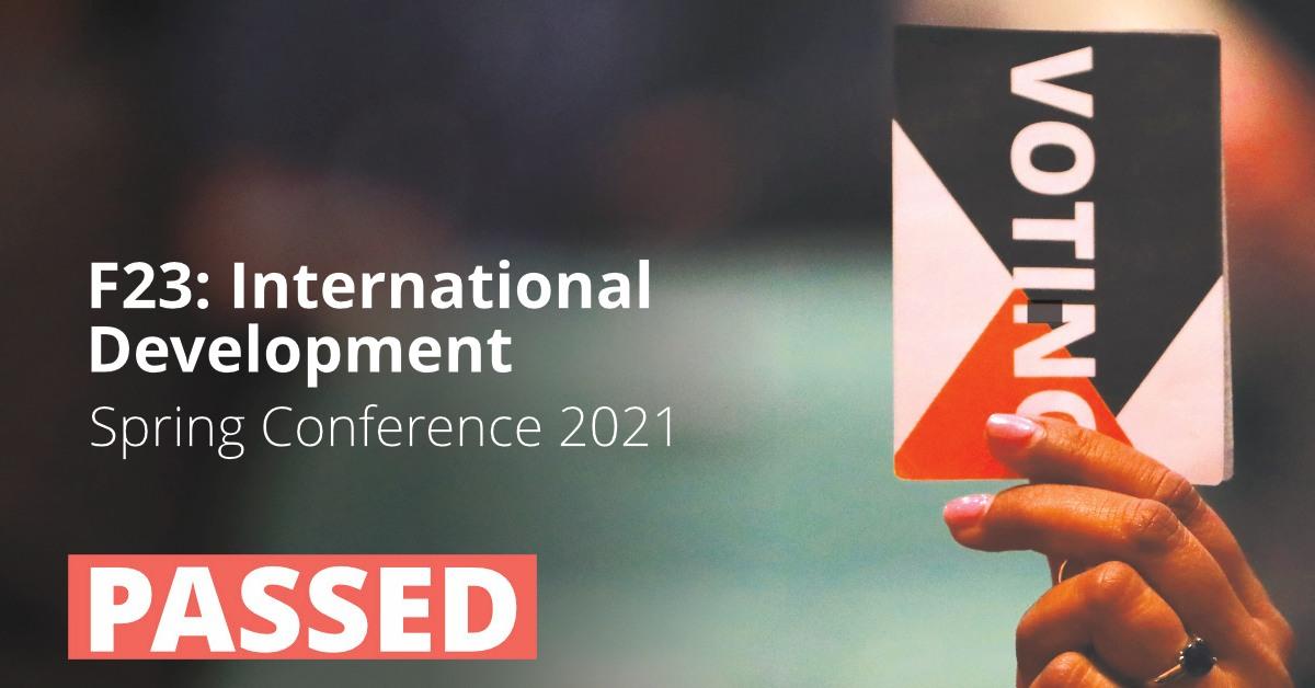 F23: International Development