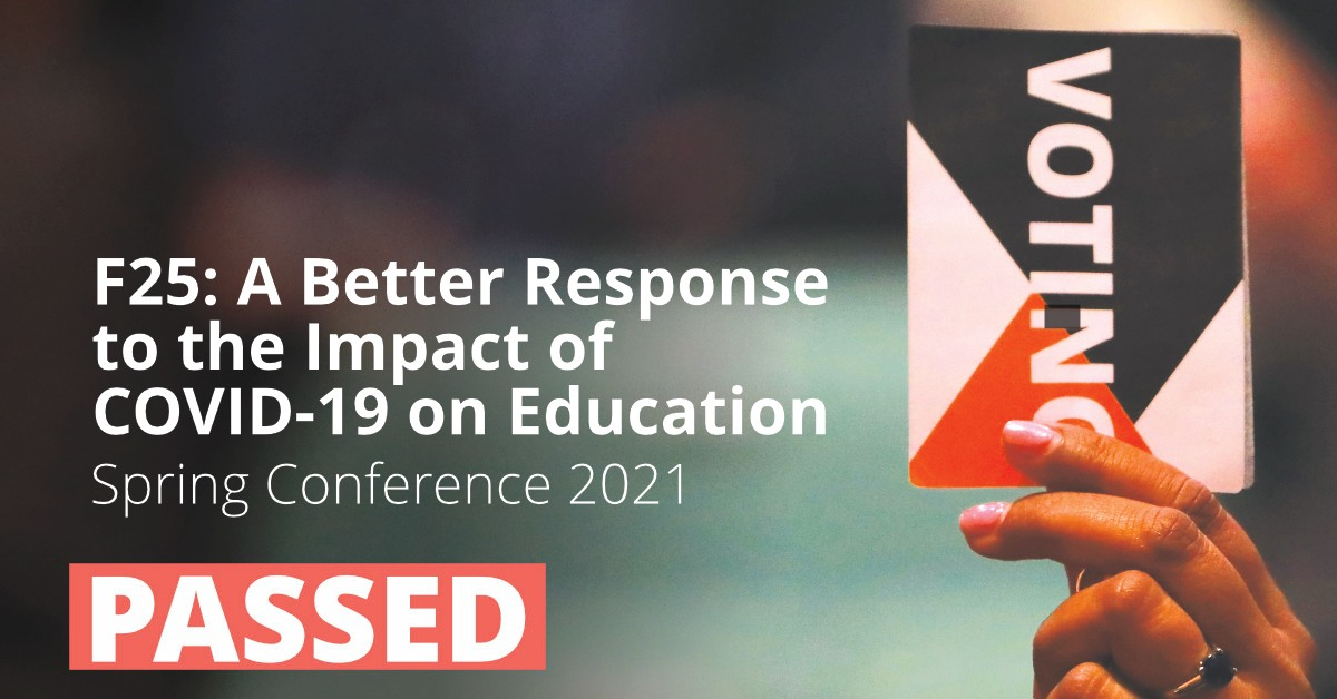 F25: A Better Response to the Impact of COVID-19 on Education
