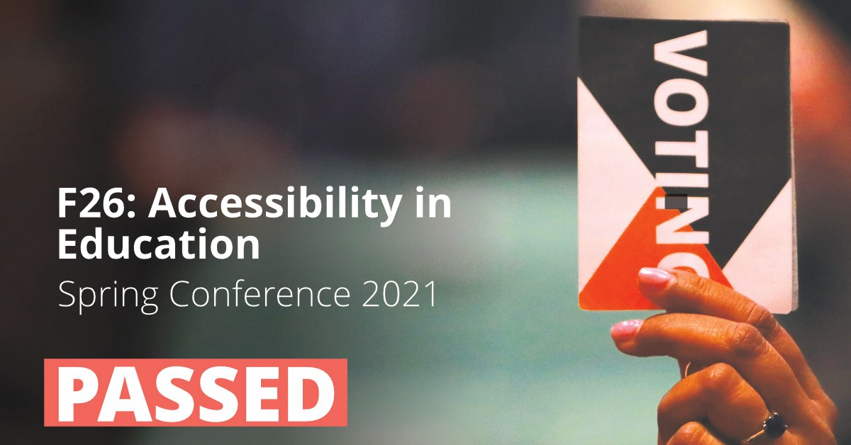 F26: Accessibility in Education