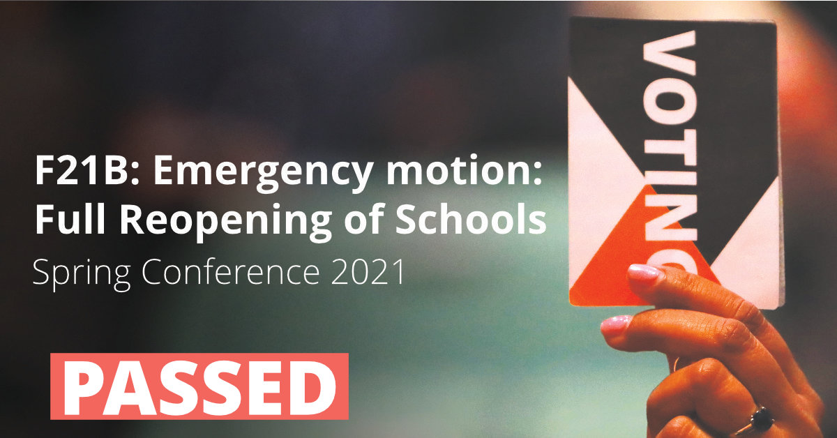 F21B Emergency motion: Full Reopening of Schools