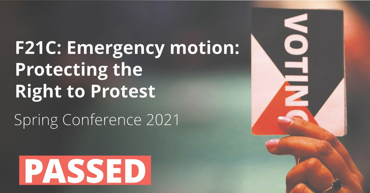 F21C Emergency motion: Protecting the Right to Protest