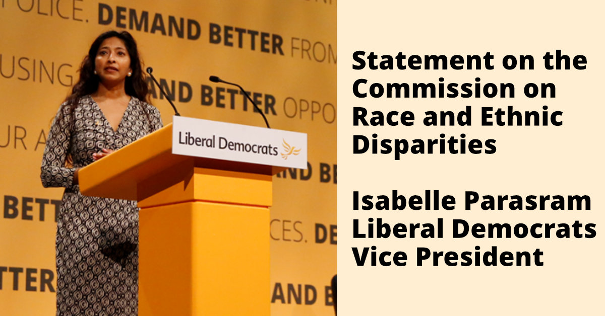Statement on the Commission on Race and Ethnic Disparities