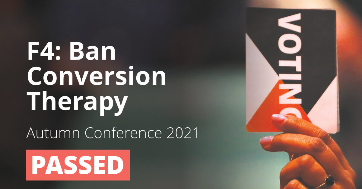 F4: Ban Conversion Therapy