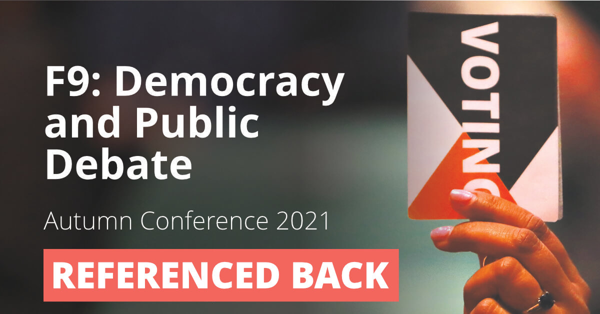 F9: Democracy and Public Debate (Nature of Public Debate Policy Paper)