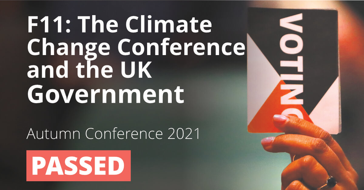 F11: The Climate Change Conference and the UK Government