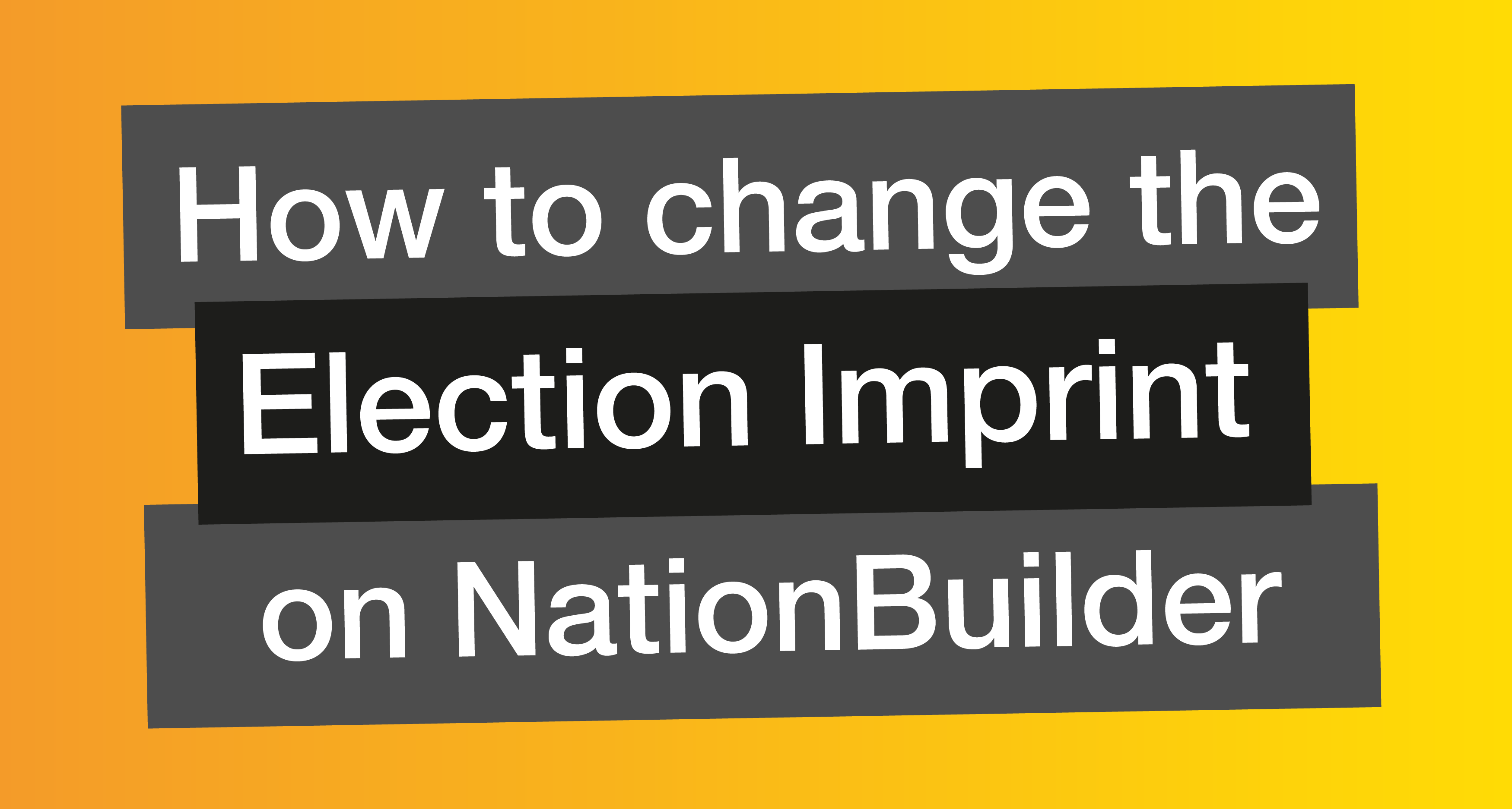 How to Change the Local Imprint on NationBuilder