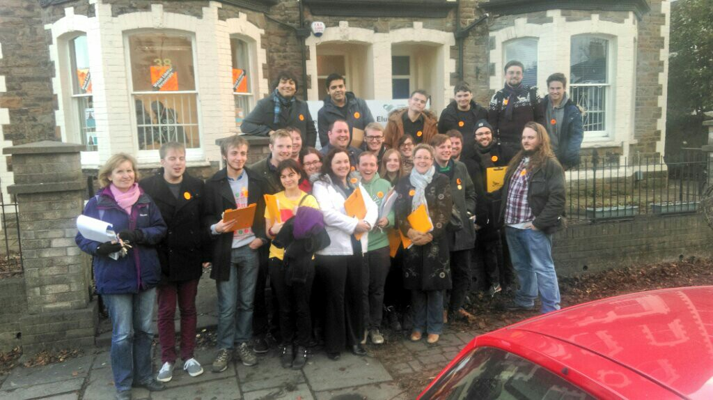 Campaigning in Cardiff!