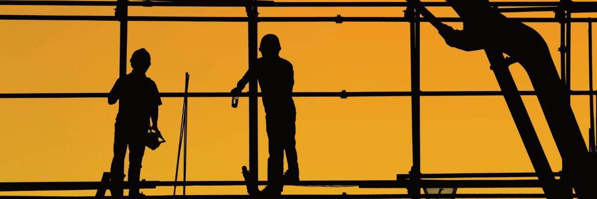 Sillouhette of construction workers