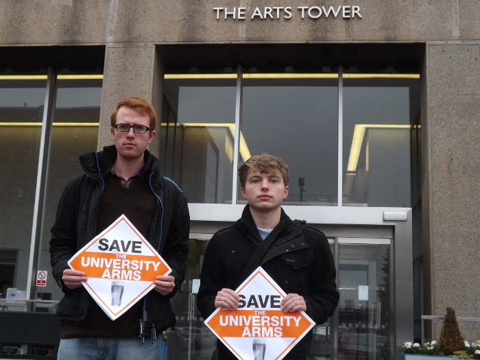 Sheffield Petition to #SaveUniArms handed in!