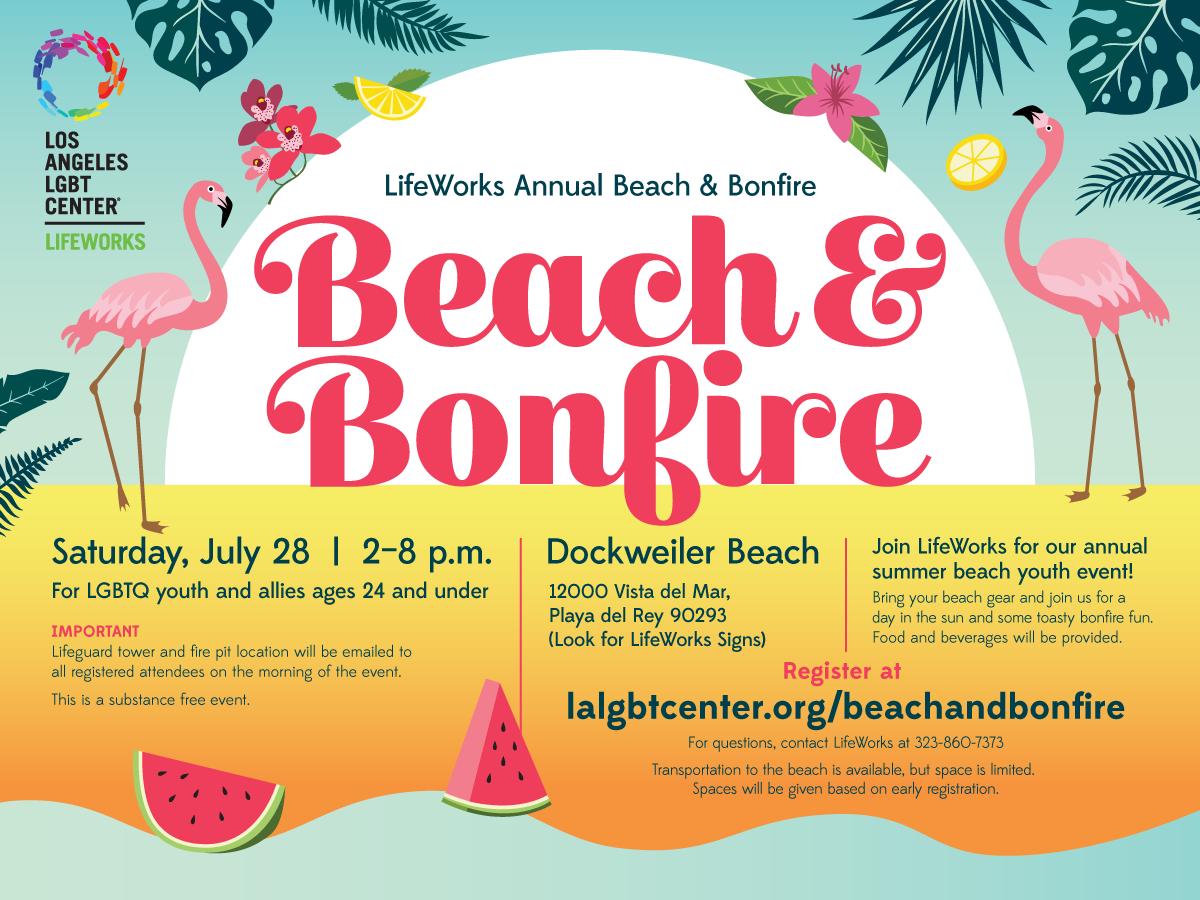 Beach and Bonfire