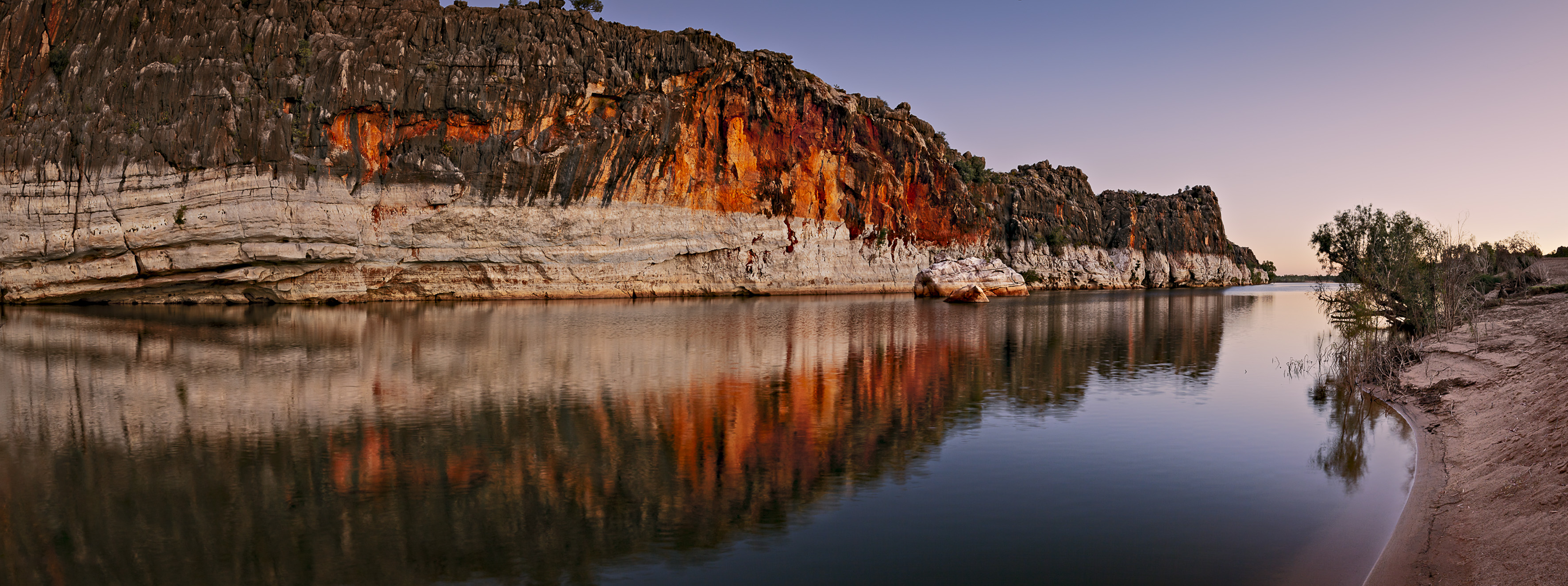 Danggu Geikie Gorge was carved by the Fitzroy River through part of an ancient limestone barrier reef which snakes across the west Kimberley (Image: Adam Monk)