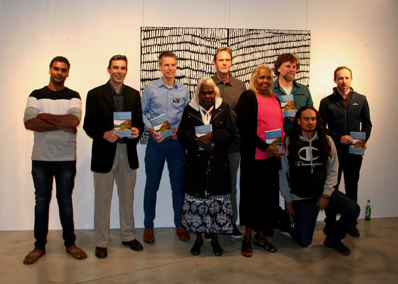 Kimberley rangers, elders and five of the Field Guide authors
