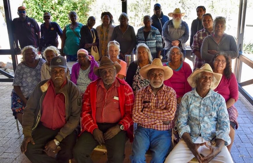 Martuwarra Fitzroy River Council founding members at May meeting in Fitzroy Crossing. Photo: Kimberley Land Council