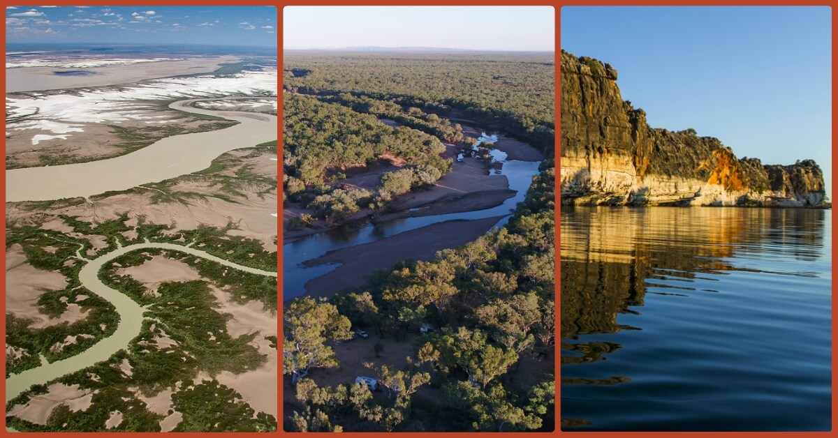 The mighty Fitzroy changes dramatically along its 700 km length and with the monsoonal seasons