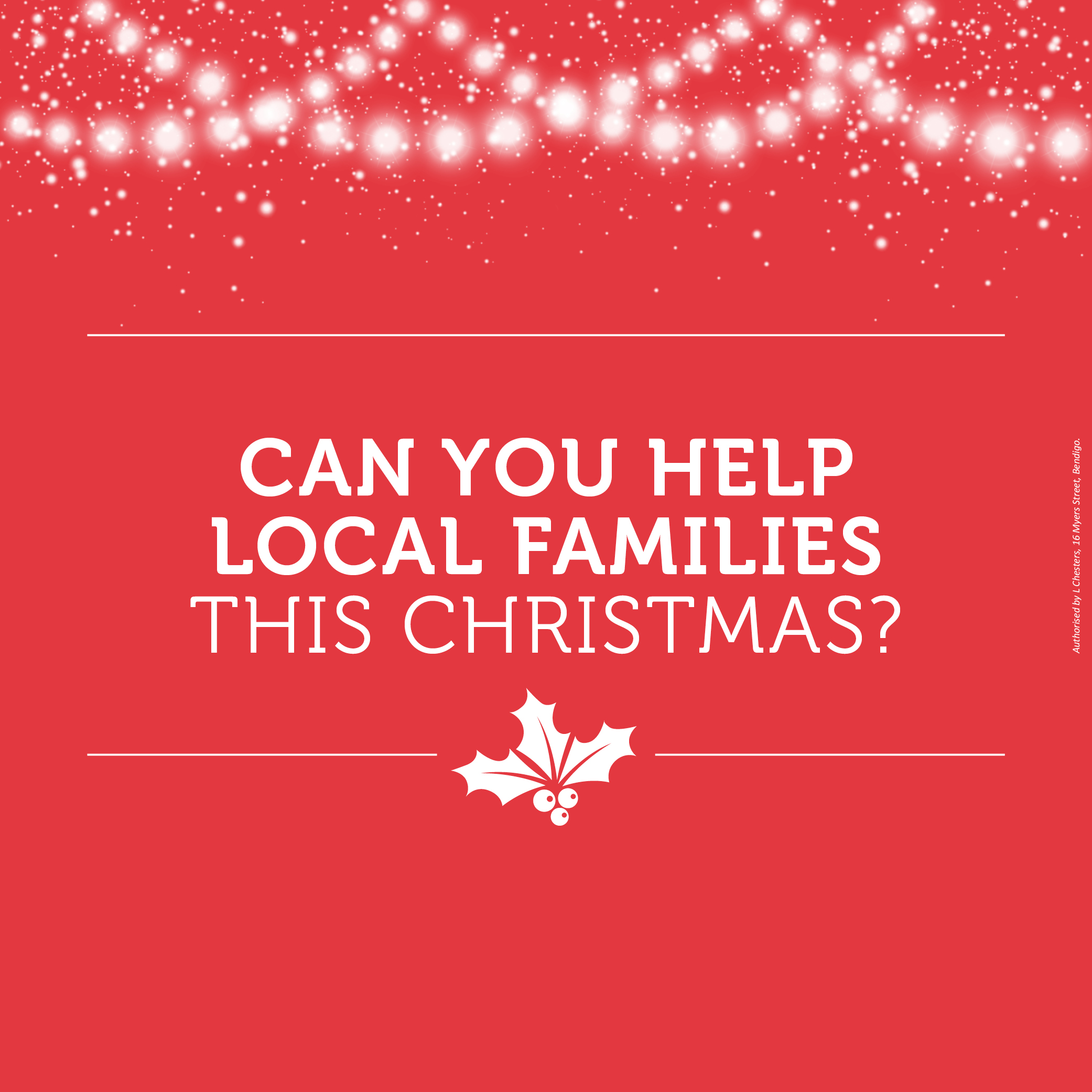 Chesters calls on the community to help local families this Christmas