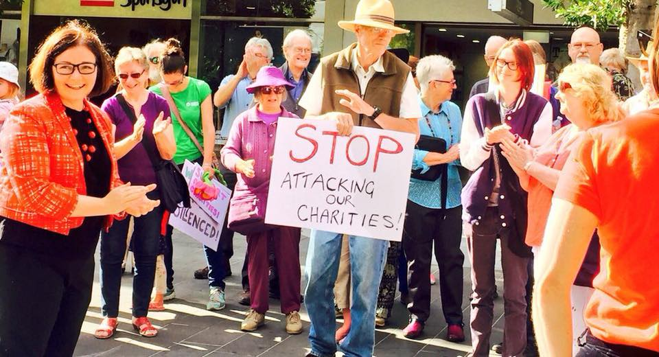 Bendigo Rallies for charities targeted in Government legislation