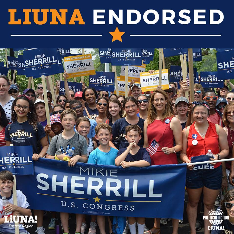 LIUNA Endorses Mikie Sherrill in District 11