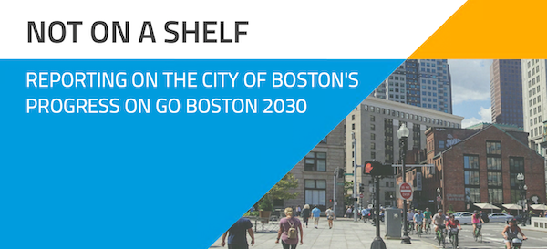 The front cover of the Go Boston 2030 report