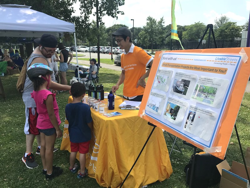 LivableStreets outreach at an outdoor festival