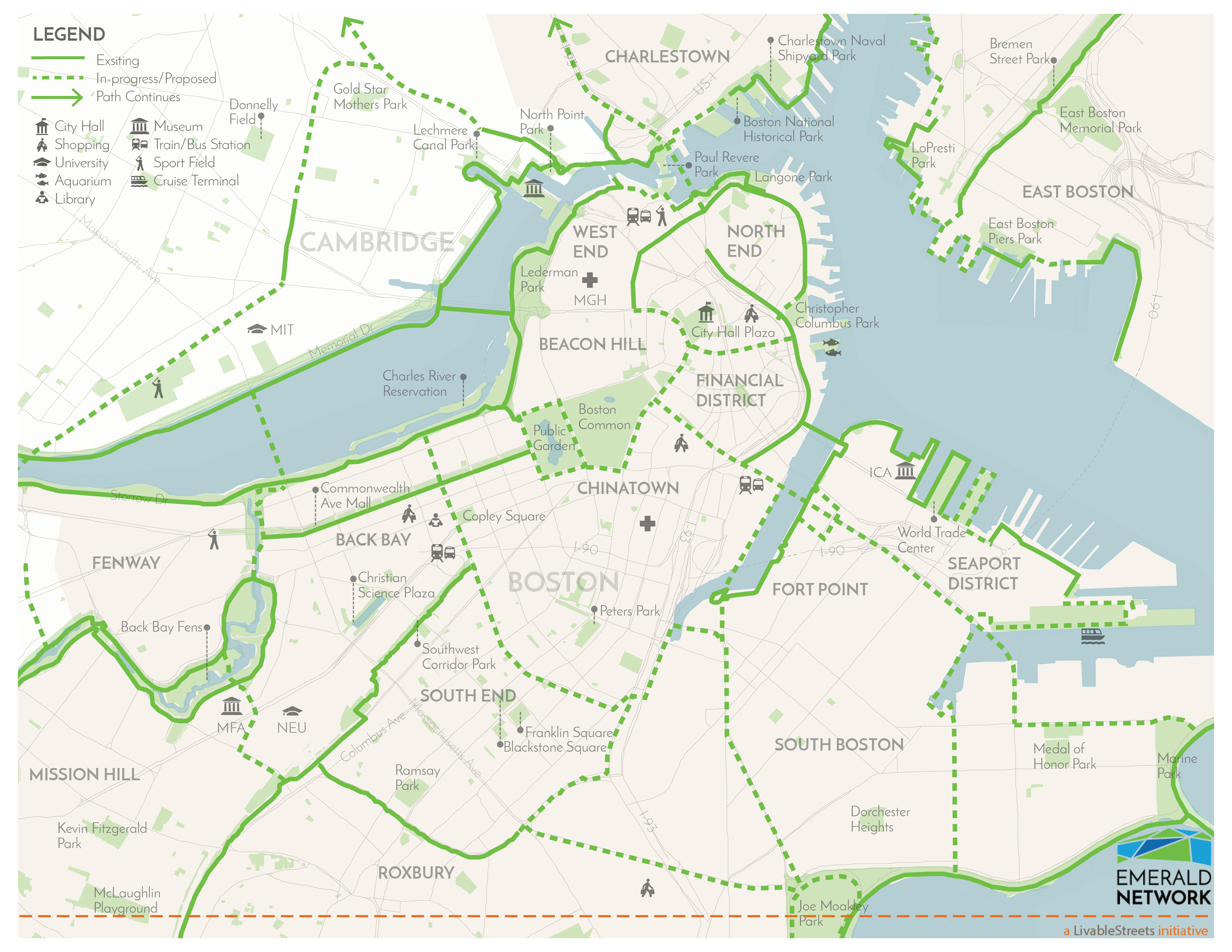 image relating to Printable Map of Boston named Elements - Emerald Community