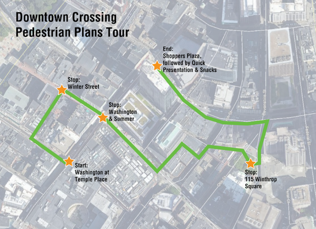 Downtown Boston Pedestrian Planning Tour - LivableStreets Alliance on
