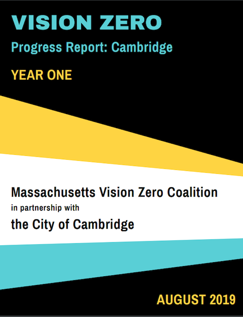 The cover of the Cambridge Vision Zero Year One Progress Report