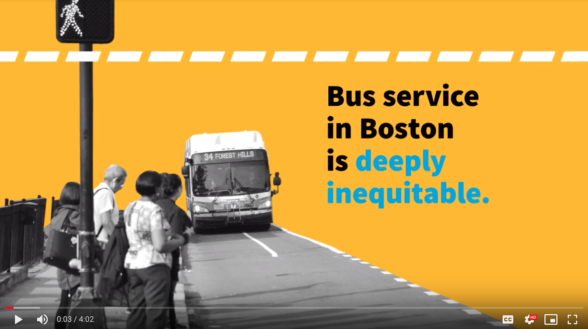 A screenshot of the Better Buses video featuring the text \