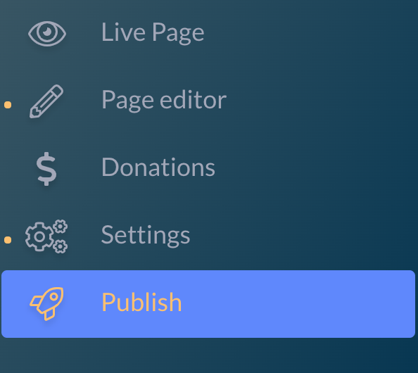 A screenshot of the menu options: \
